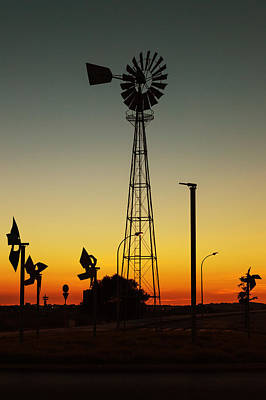 Photograph - Windmill At Sunset by Marco Oliveira