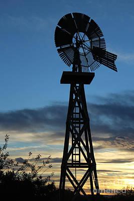 Windmill At Sunset Original
