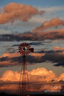 Windmill At Sunset V Art Print by Cindy McIntyre