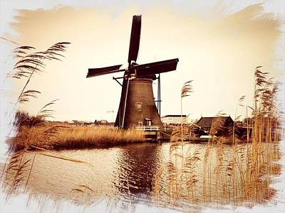 Windmill Art Print by Beril Sirmacek