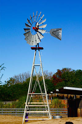 Photograph - Windmill by Carol Tsiatsios