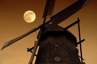 Windmill Art Print by Detlev Van Ravenswaay