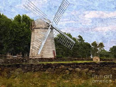 Windmill Art Print by Diane Goulart