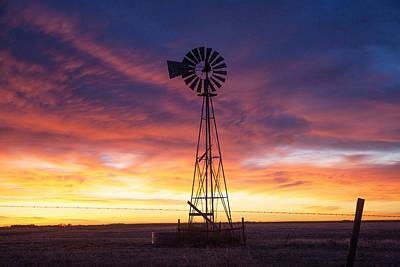 Windmill Dressed Up Art Print