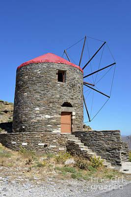 Island Photograph - Windmill In Oia Town by George Atsametakis