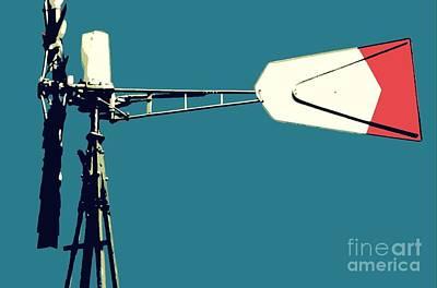 Digital Art - Windmill 2 by Valerie Reeves