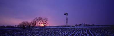 Windmill In A Field, Illinois, Usa Art Print