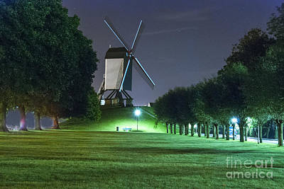 Photograph - Windmill In Bruges by Juli Scalzi