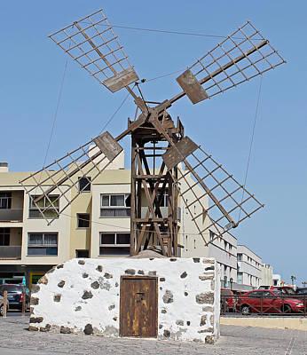Photograph - Windmill In Coralejo Fuerteventura by Tony Murtagh