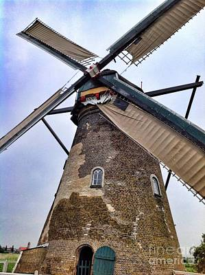 Photograph - Windmill In Netherlands by John Potts