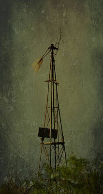 Windmill In Summer Art Print by Mikki Cromer