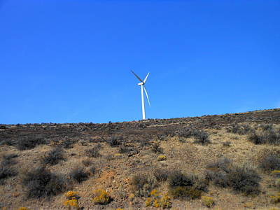 Windmill In The Desert Art Print by Kay Gilley