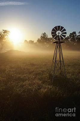 Photograph - Windmill In The Fog by Jennifer White