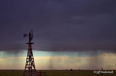 Photograph - Windmill In The Rain by Jeff Niederstadt
