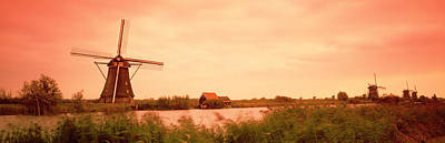 Windmill, Kinderdigk, Netherlands Art Print by Panoramic Images