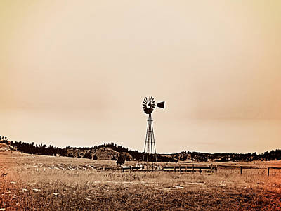 Old West Photograph - Windmill by Leland D Howard