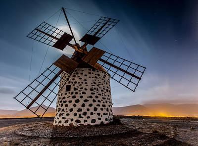 Canary Wall Art - Photograph - Windmill by Martin Zalba