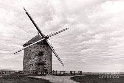 Bucolic Photograph - Windmill by Olivier Le Queinec