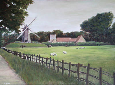 Painting - Windmill On Farm by Jennifer Lycke