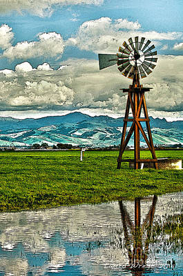 Photograph - Windmill On The Hills by Artist and Photographer Laura Wrede