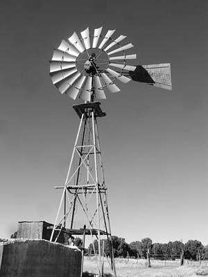 Windmill On The Range Art Print