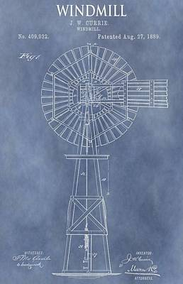 Windy Mixed Media - Windmill Patent by Dan Sproul