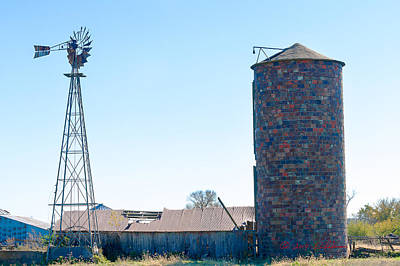 Photograph - Windmill Shed Silo by Edward Peterson