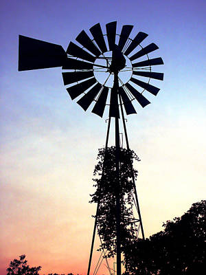 Photograph - Windmill Silhouette by Marilyn Hunt