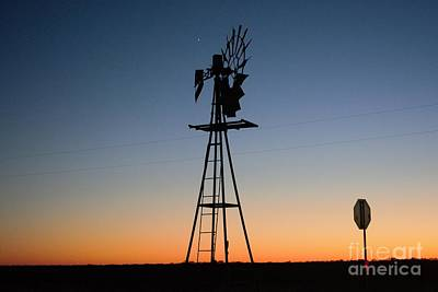 Photograph - Windmill Sunset by Lne Kirkes