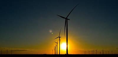 Photograph - Windmill Sunset by Shannon Harrington