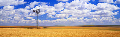 Windmill Wheat Field, Othello Print by Panoramic Images