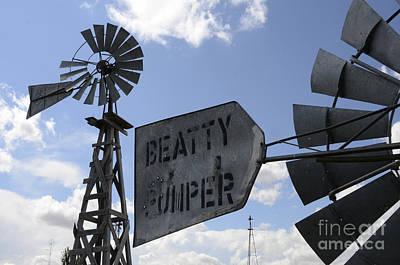 Windmills 1 Art Print by Bob Christopher