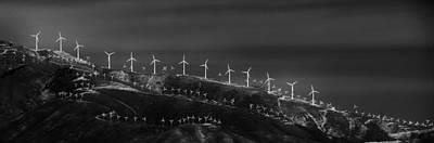 Windmills 1 Art Print by Niels Nielsen