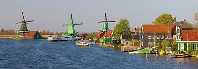 Windmills Along The Zaan River Art Print