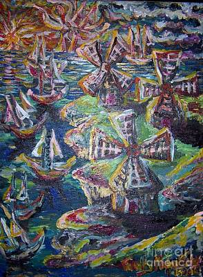 Traditional Bells - Windmills and Ships Sailing Sips by Timothy  Foley