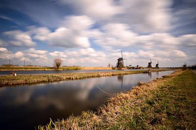 Photograph - Windmills And Wind by Oleksandr Maistrenko