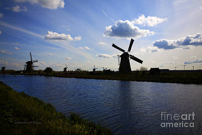 Photograph - Windmills  At Twilight by Richard J Thompson