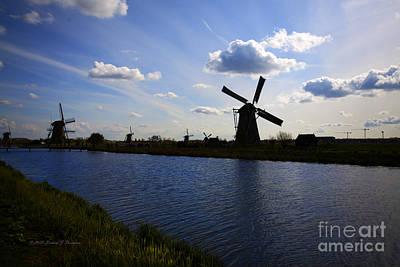 Photograph - Windmills  At Twilight by Richard J Thompson