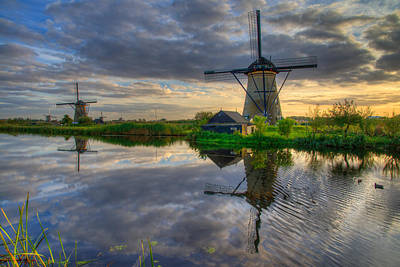 Netherlands Photograph - Windmills by Chad Dutson