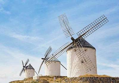 Windmills, Consuegra, Spain Art Print by Ken Welsh