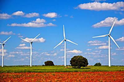 Windmills Print by Galexa Ch