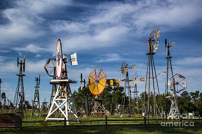 Photograph - Windmills Galore by Jim McCain