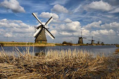 Photograph - Windmills In Kinderdijk by Oleksandr Maistrenko