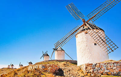 Windmills In Spain Art Print by JR Photography