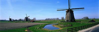 Windmills Near Alkmaar Holland Print by Panoramic Images