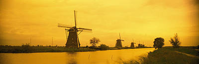 Landscape Netherlands Photograph - Windmills Netherlands by Panoramic Images