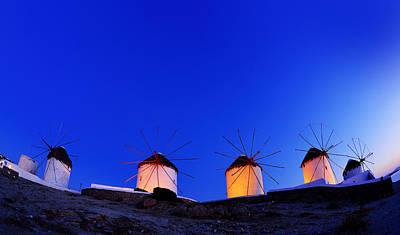 Mykonos Photograph - Windmills Of My Mind by Midori Chan
