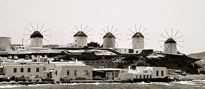 Photograph - Windmills Of Mykonos by Corinne Rhode
