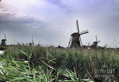 Photograph - Windmills Of Netherlands by John Potts