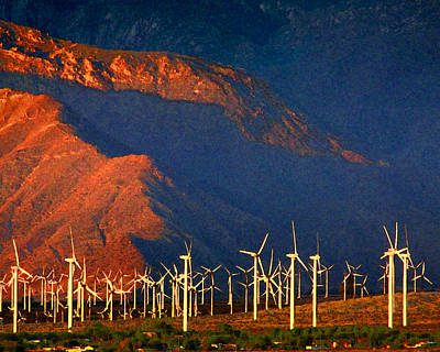 Photograph - Windmills Of The Gorgonio Pass by Timothy Bulone